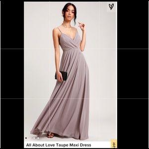 Lulus Chiffon maxi dress